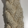 Cream knitted cable headband, knitted earwarmers, cream braided headband