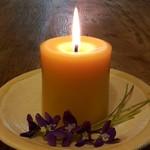 Classic Pillar 9cmx8cm, Pure Beeswax Candle