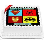 Superheroes Edible Cake Topper Icing Image