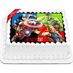 Avengers Superheroes Edible Cake Topper Icing Image