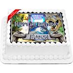 Jurassic World Dinosaurs Edible Cake Topper Icing Image