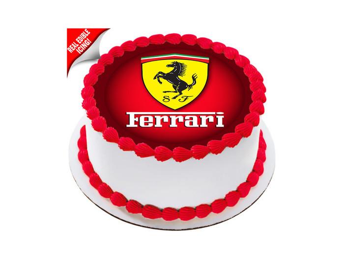 Phenomenal Ferrari Edible Icing Image Cake Topper Leading Trends Australia Funny Birthday Cards Online Ioscodamsfinfo