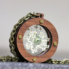 Industrial Queen Annes Lace Locket | Handmade | Unique Design | Gift