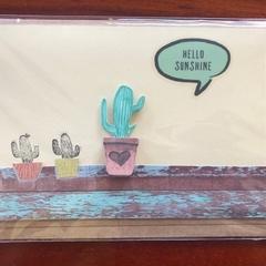 Hello Sunshine; Cacti Card