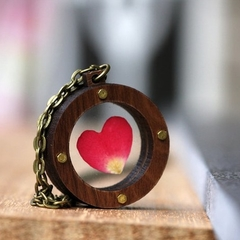 Industrial Red Rose Heart Locket | Handmade | Unique Design | Gift