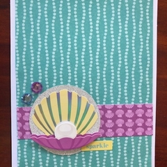 Sparkle; Pearl in a Shell Card