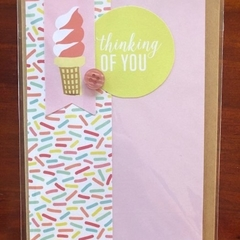 Thinking Of You - Ice-Cream and Sprinkles Card