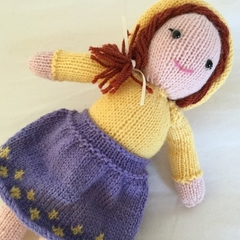 Doll -  crocheted, knitted, softies