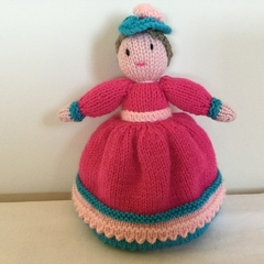 Topsy Turvey Doll -  crocheted, knitted, softies
