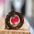 Industrial Red Rose Heart Locket | Handmade | Unique Design | Gift