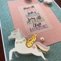 Live a Magical Life; Unicorn and Rainbow Card