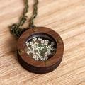 Industrial Queen Annes Lace Locket | Handmade | Unique Design | Gift