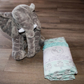 Baby blanket ~ Cotton and Minky ~ Owl