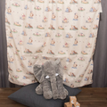 Baby blanket ~ Cotton and Minky ~  Winnie the Pooh