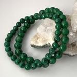 Genuine Dark Green Genuine  CHRYSOCOLLA, Round Stones Two Bracelets.
