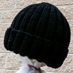 Adult beanies,  hand knitted, wool, warm, snuggly.