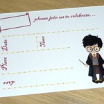 Harry Potter themed Birthday invitations -Harry or Hermione