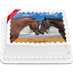 Horses Edible Icing Image Cake Topper