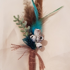 Bohemian Wedding Buttonholes
