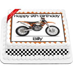 KTM Trail Bike Edible Icing Image Cake Topper