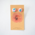 Pink & aqua polymer clay stud earrings