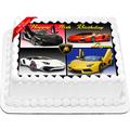 Lamborghini Cars Edible Icing Image Cake Topper