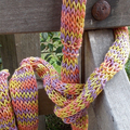 simple knitted summer scarf made from hand dyed linen yarn. ON SALE!!!