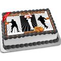 Basketball Edible Icing Image Cake Topper