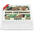 Army Camo Edible Icing Image Cake Topper