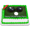 Lawn Bowls Edible Icing Image Cake Topper