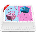 Gender Reveal Edible Icing Image Cake Topper