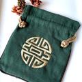 Set of 3:  Genuine Jade (Nephrite) and Green Jade Color Stones Strech Bracelets.