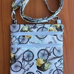 Cross Body Bag - Blue Vintage Bicycles