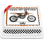 KTM Trail Bike Edible Icing Image Cake Topper