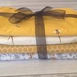Set of 4 contoured burp cloths, organic cotton and towelling
