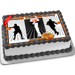 Basketball Edible Icing Image Cake Topper