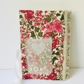 Handmade fabric and lace journal with beautiful paper.