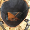 Leather tote, purse & keyring set