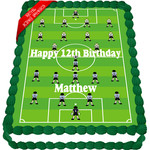 Soccer Field Edible Cake Topper