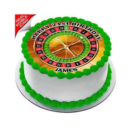 Roulette Edible Cake Topper