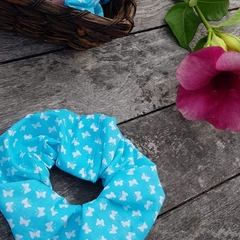 Blue Butterflies Mega Scrunchy