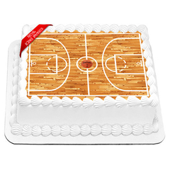 Basket Ball Court Cake Topper
