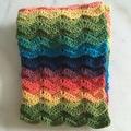 Rainbow Ridge Ripple Scarf - finished product