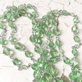 Linked Glass Bead Necklace 80cm Long Mint Green Czech Crystal