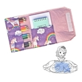 Unicorn Pencil Wallet,  pencil case, drawing set, travel toy