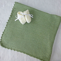 Luxurious 2ply wool baby blanket with bonus bootees