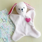 Pink Puppy Comforter | Security Blanket | Cuddle Toy