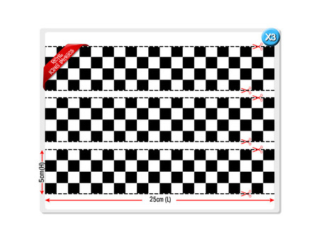 Checkered Flag Cake Strips