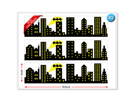 Batman City Skyline Cake Strips