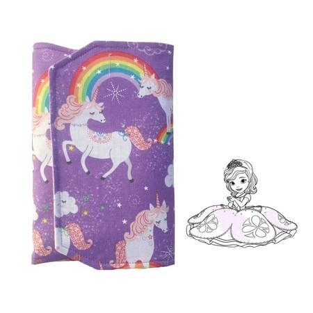 Unicorn Pencil Wallet,  pencil case, drawing set, travel toy